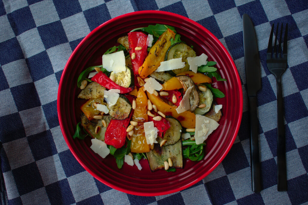 salade met gegrilde groente