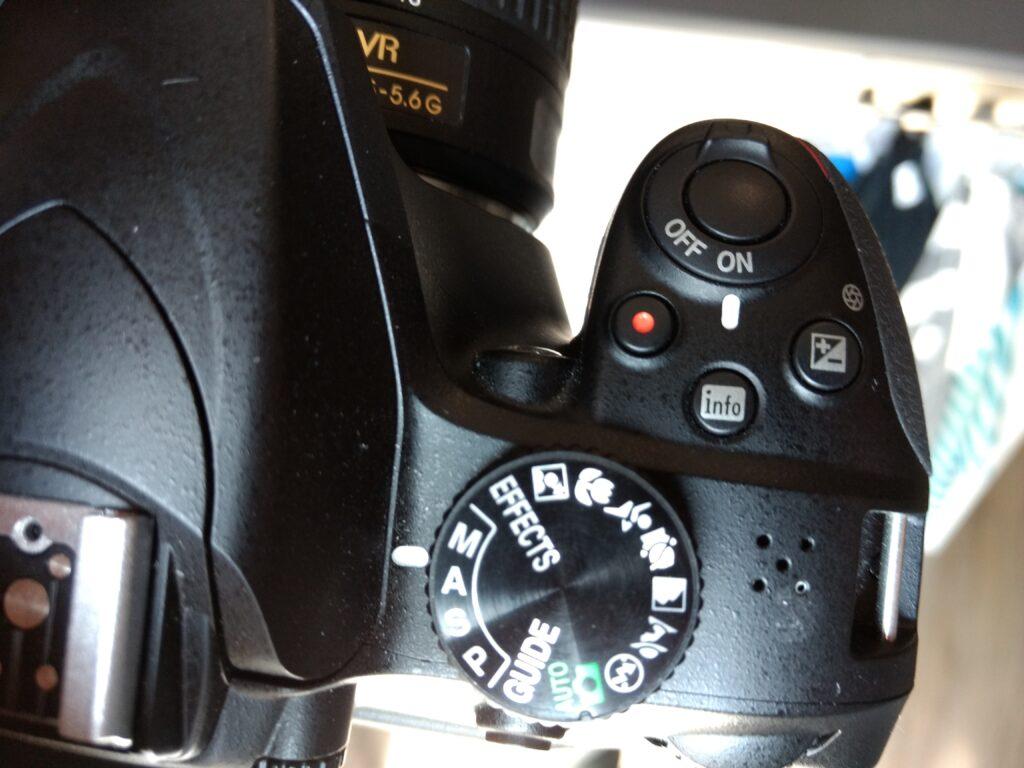 Instellingen Nikon D3400