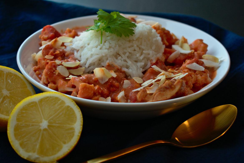 Milde curry met rijst