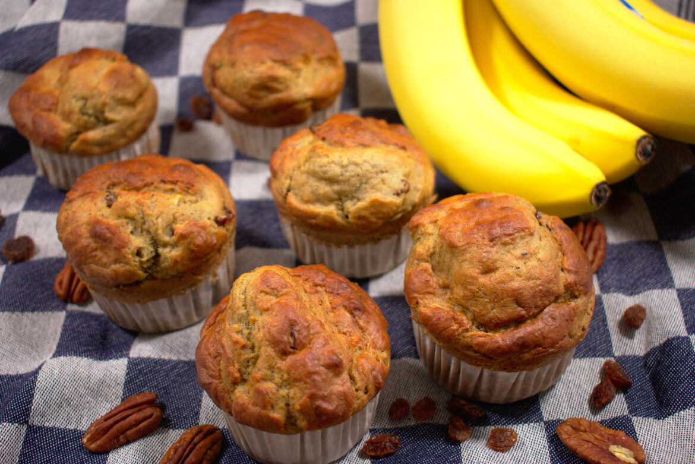 Bananenkwarkmuffins