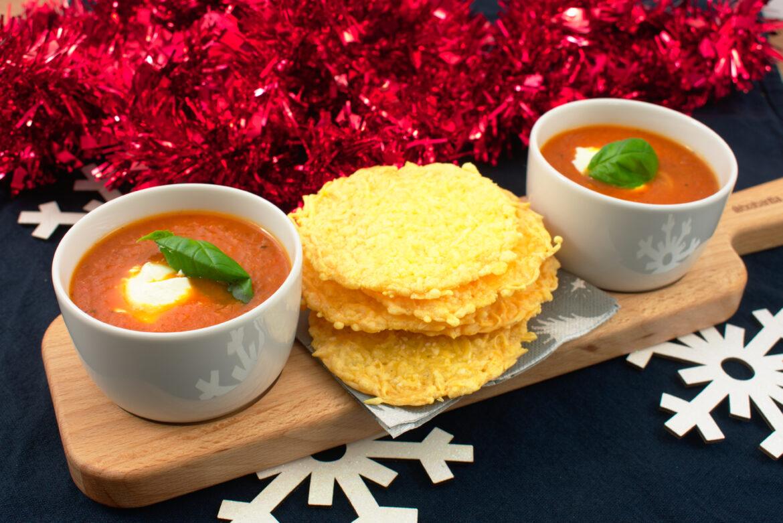 Gegrilde tomaat-paprika soep
