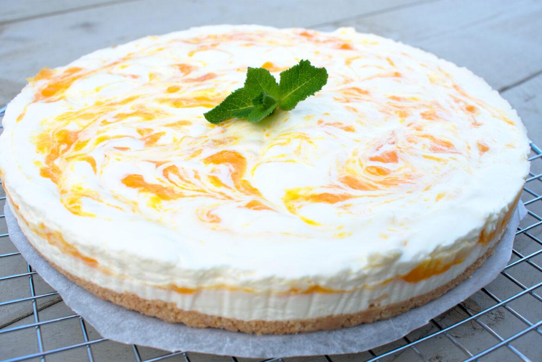 Mango yoghurttaart met witte chocolade