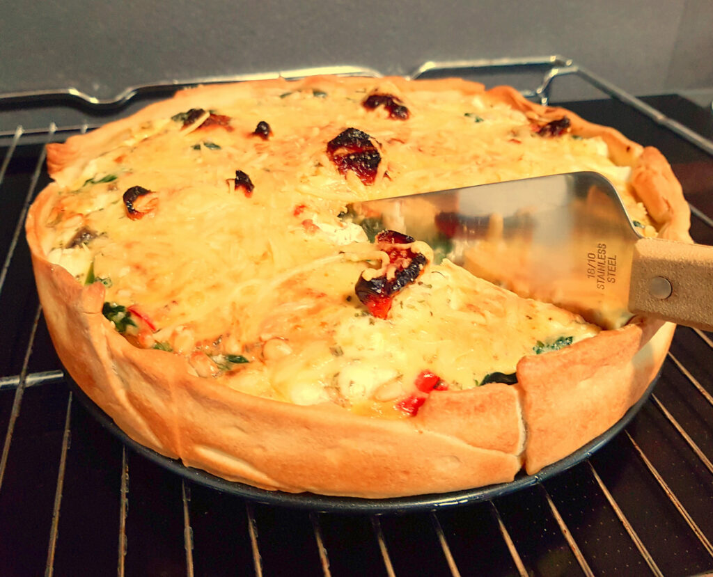 spinazie feta quiche