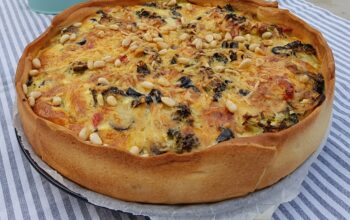 quiche met broccoli en serranoham