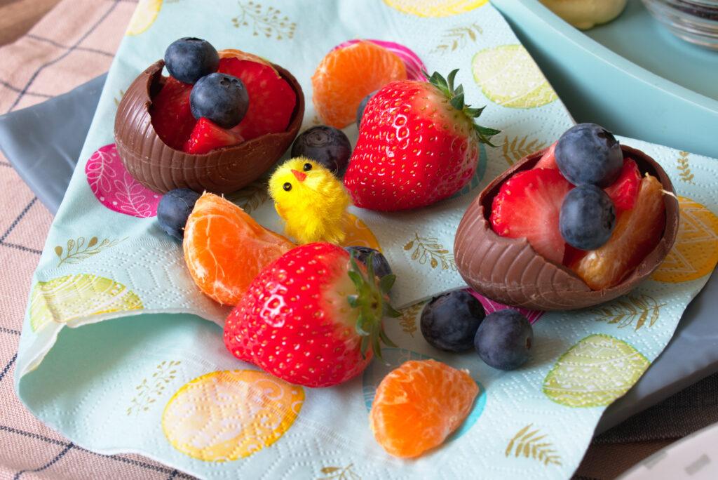 Paaseieren met fruit
