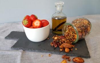 Boekweit granola en vanilleolie