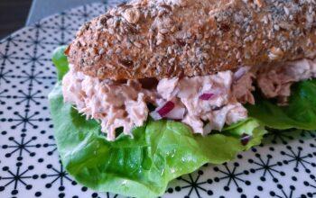tonijnsalade op brood