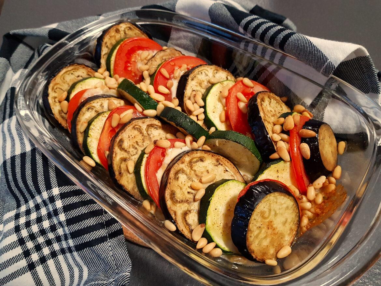 Ovenschotel met groenten en mozzarella