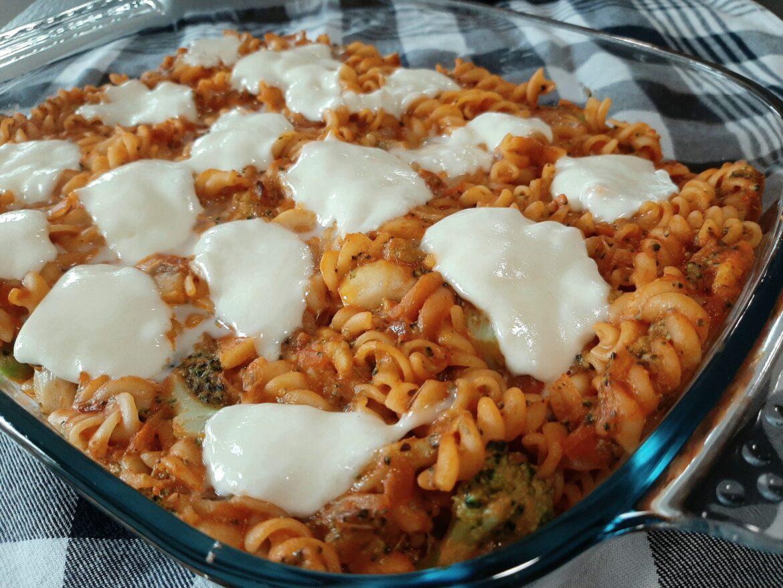 vegetarische pasta uit de oven