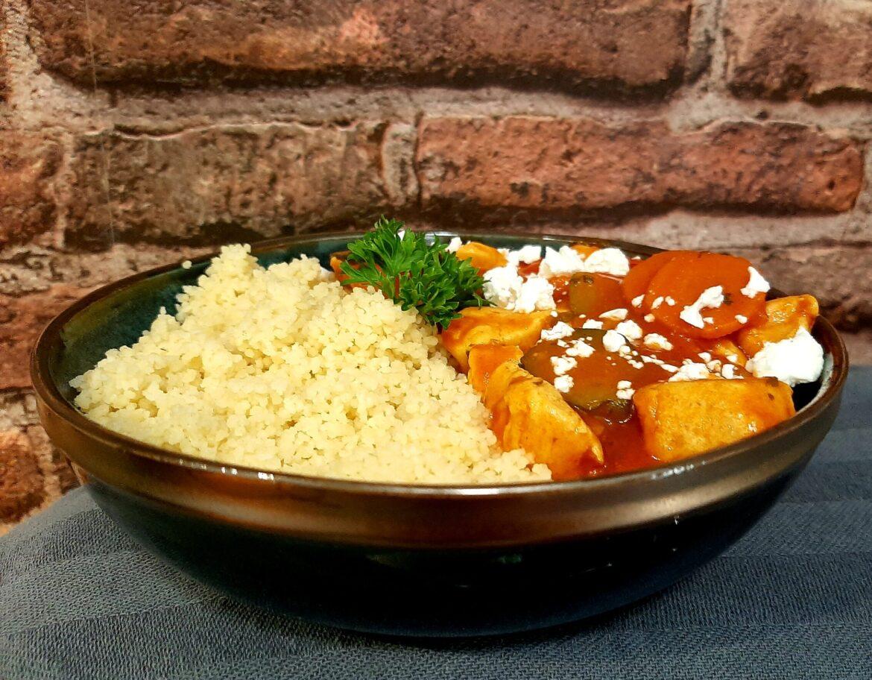 Couscous met kip en groente